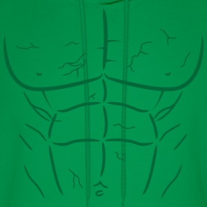 Green Fake Abs and Muscles T-shirt - Men's Hoodie