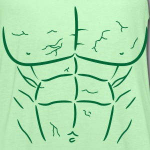 Green Fake Abs and Muscles T-shirt - Women's Flowy Tank Top by Bella