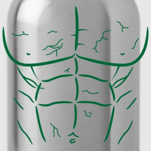Green Fake Abs and Muscles T-shirt - Water Bottle