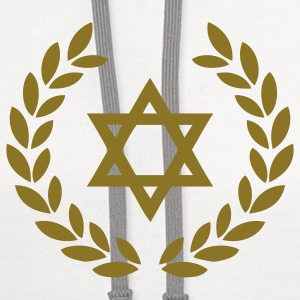 star of david deluxe jew T-Shirts - Contrast Hoodie