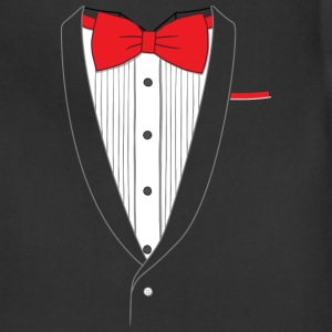 Fake Tuxedo Red Tie T-shirt - Adjustable Apron