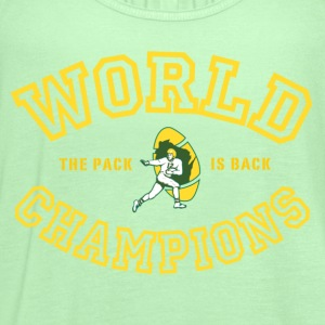 Green Bay Packers World Champions green - Women's Flowy Tank Top by Bella