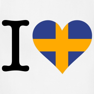 I Love Sweden (3c) T-Shirts - Adjustable Apron