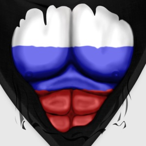 Russia Flag Ripped Muscles, six pack, chest t-shirt - Bandana