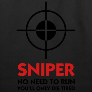 Sniper No Need To Run (2c) T-Shirts - Eco-Friendly Cotton Tote