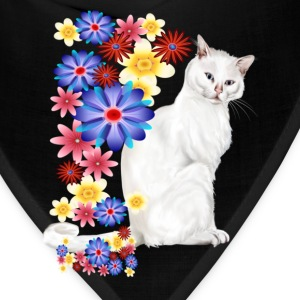 White Garden Kitty. - Bandana