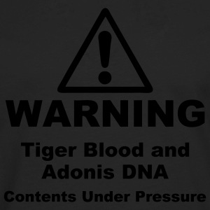 Warning! Tiger Blood and Adonis DNA Plus Size - Men's Premium Long Sleeve T-Shirt