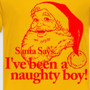 Santa Naughty Boy Kids' Shirts - Toddler Premium T-Shirt