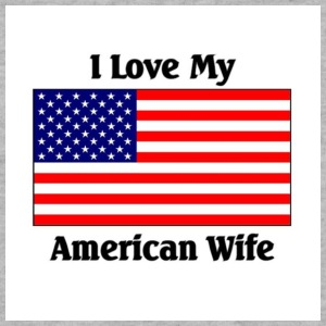 Love my American wife - Sweatshirt Cinch Bag