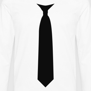 tie necktie T-Shirts - Men's Premium Long Sleeve T-Shirt