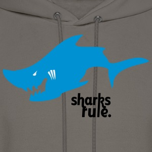 The Sharks Rule t-shirt takes a bite out of lame! - Men's Hoodie