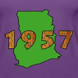 ghana 1957 green - Women's Premium Tank Top