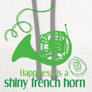 Happiness is a Shiny Horn - Contrast Hoodie