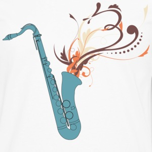 Swirly Saxophone - Men's Premium Long Sleeve T-Shirt