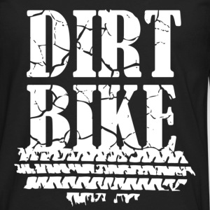 Dirt Bike White T-Shirts - Men's Premium Long Sleeve T-Shirt