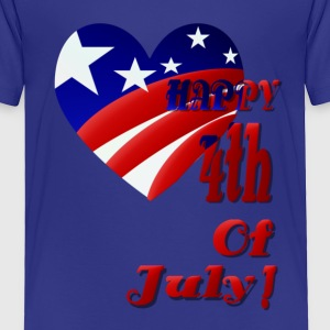 4th Of July U.S. Heart - Toddler Premium T-Shirt