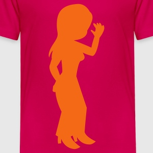 dancing girl party Kids' Shirts - Toddler Premium T-Shirt