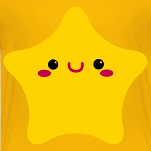 kawaii face on a rounded star cute! Kids' Shirts - Toddler Premium T-Shirt