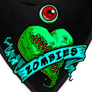 eye heart zombies green - Bandana