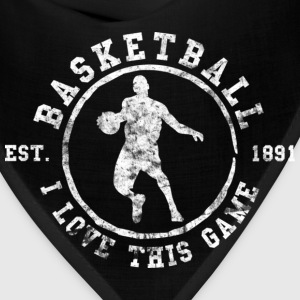 Basketball I Love This Game Used Look Retro T-Shir - Bandana
