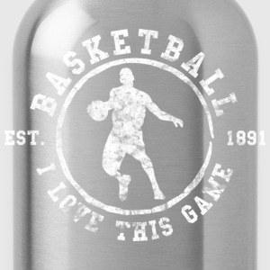 Basketball I Love This Game Used Look Retro T-Shir - Water Bottle