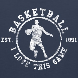 Basketball I Love This Game Used Look Retro T-Shir - Men's Premium Tank