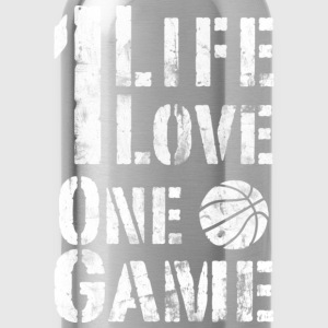 One Life, One Love, One Game Vintage Look Retro T- - Water Bottle