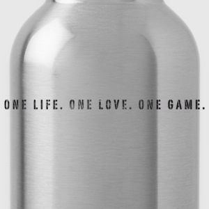 Basketball Slogan One Life, Love, Game Used Look T - Water Bottle