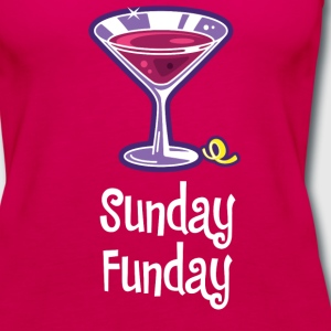Sunday Funday burgundy - Women's Premium Tank Top