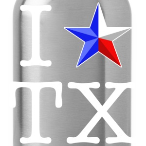 I Heart Texas T-shirt - Water Bottle
