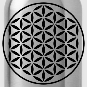 FLOWER OF LIFE - vector stamp | women's plus size  - Water Bottle
