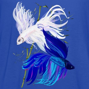 Blue n White Siamese Fighting Fish - Women's Flowy Tank Top by Bella