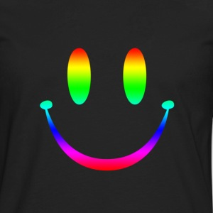 Rainbow Smiley 3 T-Shirts - Men's Premium Long Sleeve T-Shirt