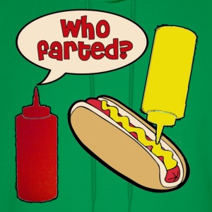 Who Farted? Ketchup Mustard Hot Dog T-Shirts - Men's Hoodie