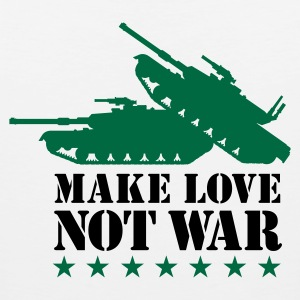 Make love not war 2clr T-Shirts - Men's Premium Tank