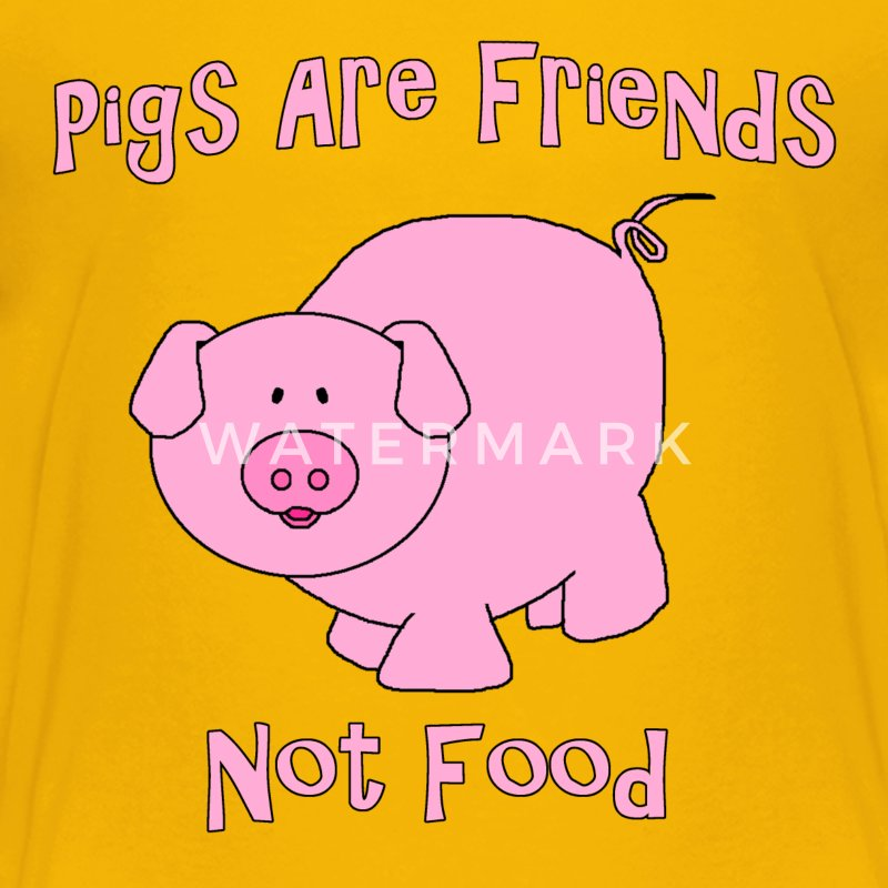 Pigs Are Friends Not Food Kids' Shirts - Kids' Premium T-Shirt