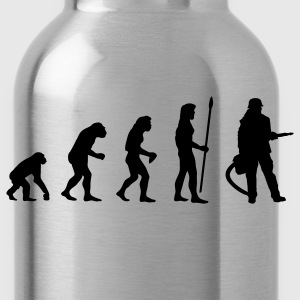 evolution_firefighter T-Shirts - Water Bottle
