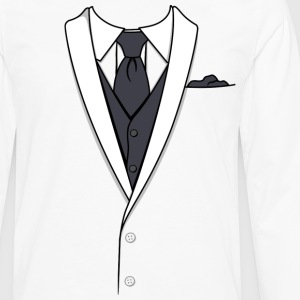 Fake White Tuxedo T-shirt - Men's Premium Long Sleeve T-Shirt