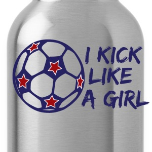 I Kick Like A Girl Soccer Kids' Shirts - Water Bottle