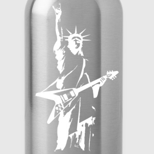 Statue of Liberty Rock V Guitar - Water Bottle