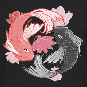 Yin Yang Koi Fish T-Shirts - Men's Premium Long Sleeve T-Shirt