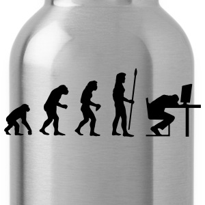 evolution_computer age T-Shirts - Water Bottle