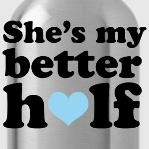 Couples She's My Better Half - Water Bottle