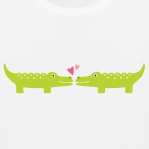 Couples Alligators In Love Dating Mens Romance T-shirt - Men's Premium Tank