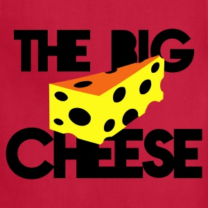 the big cheese swiss cheese good for the office boss! T-Shirts - Adjustable Apron