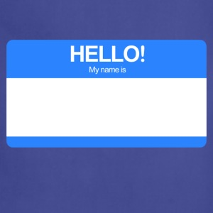 Hello! My name is ... (Blue)  - Adjustable Apron