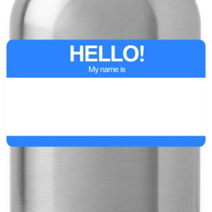 Hello! My name is ... (Blue)  - Water Bottle