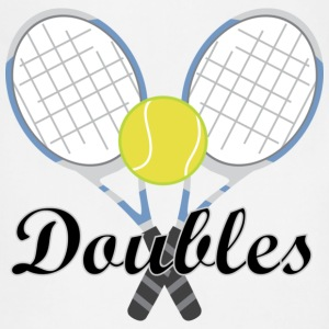 Tennis Doubles Racquet and Ball Sports T-Shirts - Adjustable Apron