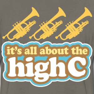 Trumpet Joke High C Music T-Shirts - Men's Premium Long Sleeve T-Shirt