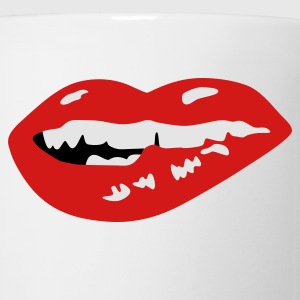 Bite Lip - Horny Mouth T-Shirts - Coffee/Tea Mug
